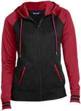 Stewartsville Elementary School Cardinals Ladies Sport-Wick® Varsity Fleece Full-Zip Hooded Jacket