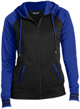 Colma Elementary School Cougars Ladies Sport-Wick® Varsity Fleece Full-Zip Hooded Jacket