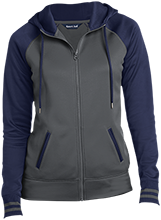 New Berlin High School Pretzels Ladies Sport-Wick® Varsity Fleece Full-Zip Hooded Jacket