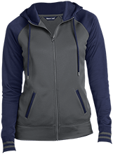 Lansing Eastern High School Quakers Ladies Sport-Wick® Varsity Fleece Full-Zip Hooded Jacket