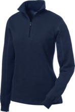 Saint Thomas More School Lions And Lambs Ladies 1/4 Zip Sweatshirt