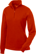 Friends School Quakers Ladies 1/4 Zip Sweatshirt