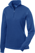 Sunset Hills Elementary School Tarpon Fish Ladies 1/4 Zip Sweatshirt