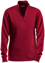 Collegiate School Cardinals Ladies 1/4 Zip Sweatshirt