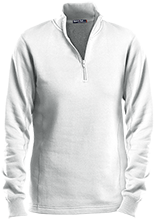 Breast Cancer Ladies 1/4 Zip Sweatshirt