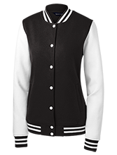 Hockey Ladies Fleece Letterman Jacket