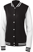 Charity Ladies Fleece Letterman Jacket