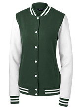 Crouch Elementary School Crocodiles Ladies Fleece Letterman Jacket