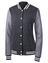 Academy At The Farm School Ladies Fleece Letterman Jacket