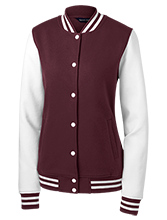 Lowpoint-washburn High School Wildcats Ladies Fleece Letterman Jacket