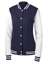 Oak Knoll Elementary School Otters Ladies Fleece Letterman Jacket
