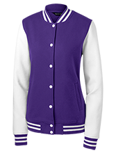Harrison Elementary School Huskies Ladies Fleece Letterman Jacket