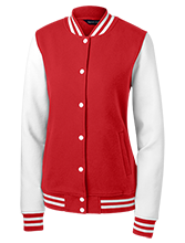Collegiate School Cardinals Ladies Fleece Letterman Jacket