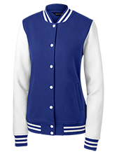 Queen Of Peace School Lions Ladies Fleece Letterman Jacket