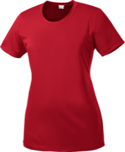 Bucyrus Middle School Redmans Ladies Short Sleeve Moisture-Wicking Shirt