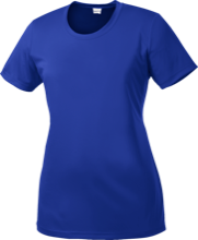 Saratoga Independent School Blue Streaks Ladies Short Sleeve Moisture-Wicking Shirt