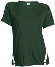 Janesville Parker High  School Vikings Ladies Colorblock Polyester Tshirt