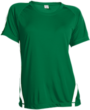 Pearsall Intermediate School Mavericks Ladies Colorblock Polyester Tshirt