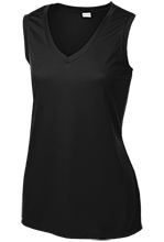 Julian O. Strong Middle School Cardinals Ladies Sleeveless Moisture Absorbing V-Neck