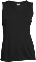 Ladies Sleeveless Moisture Absorbing V-Neck