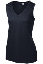 Swampscott High School Big Blue Ladies Sleeveless Moisture Absorbing V-Neck