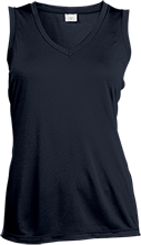 Lansing Eastern High School Quakers Ladies Sleeveless Moisture Absorbing V-Neck