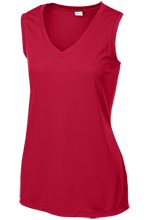 Bucyrus Middle School Redmans Ladies Sleeveless Moisture Absorbing V-Neck