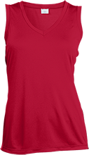 New Jersey Masters Masters Ladies Sleeveless Moisture Absorbing V-Neck