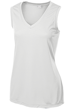 North Marion High School Huskies Ladies Sleeveless Moisture Absorbing V-Neck