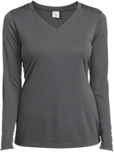 The Pen Ryn School School Ladies Long Sleeve Performance Vneck T-Shirt
