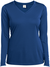 Ann Arbor Christian School School Ladies Long Sleeve Performance Vneck T-Shirt