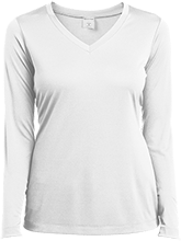 Emerald Junior High School Pirates Ladies Long Sleeve Performance Vneck T-Shirt