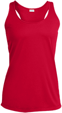 Lopez Elementary School Indians Ladies Racerback Moisture Wicking Tank