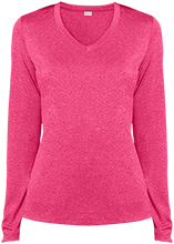 Ladies LS Heather Dri-Fit V-Neck T-Shirt
