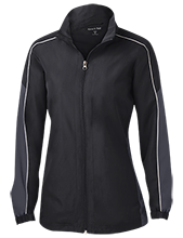McKay Creek Elementary School Mustangs Ladies Piped Colorblock Windbreaker