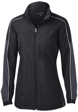 Batting Cage Ladies Piped Colorblock Windbreaker