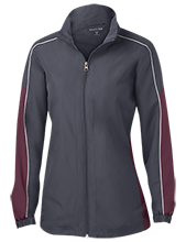 Lowpoint-washburn High School Wildcats Ladies Piped Colorblock Windbreaker