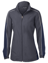 Montpelier Schools Locomotives Ladies Piped Colorblock Windbreaker