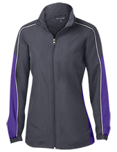 John Bapst Memorial High School Crusaders Ladies Piped Colorblock Windbreaker