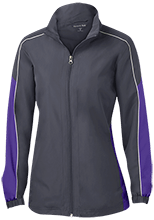 Cathedral Elementary School Wildcats Ladies Piped Colorblock Windbreaker