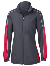 Parkway Christian Academy Flames Ladies Piped Colorblock Windbreaker