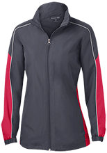 Edmonson Middle School  School Ladies Piped Colorblock Windbreaker