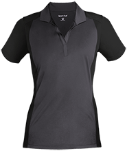 St. Francis Indians Football Ladies Colorblock Sport-Wick Polo