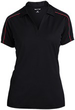 Travis Elementary School Mustangs Ladies Micropique Sport-Wick Piped Polo