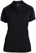 Milnor High School Bison Ladies Micropique Sport-Wick Piped Polo
