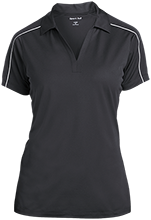 Clinton Elementary School Comets Ladies Micropique Sport-Wick Piped Polo