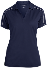 White Plains High School Wildcats Ladies Micropique Sport-Wick Piped Polo