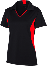 Little Mountain Elementary School Mustangs Ladies Colorblock Performance Polo