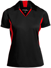 Travis Elementary School Mustangs Ladies Colorblock Performance Polo