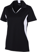 Clay Springs Elementary School Black Bears Ladies Colorblock Performance Polo